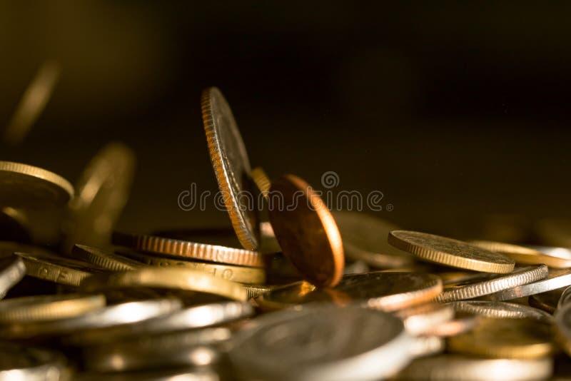Empilar monedas imágenes de archivo libres de regalías