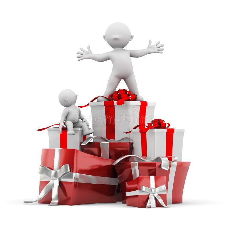 Empilement de cadeau illustration libre de droits