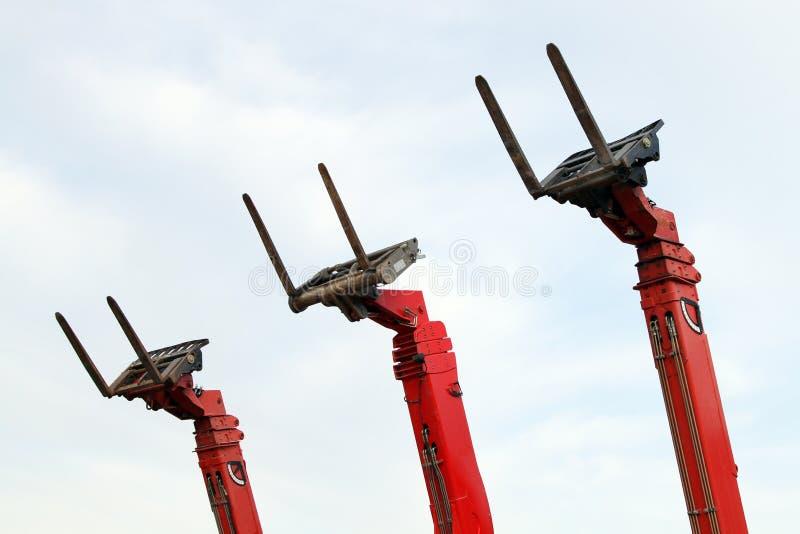 Empilhadeiras hidráulicas imagem de stock