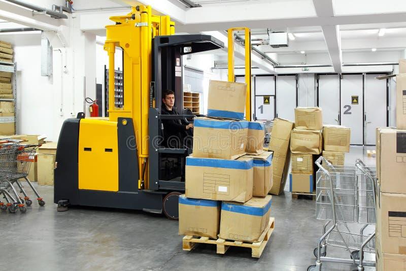 Empilhador do Forklift imagem de stock