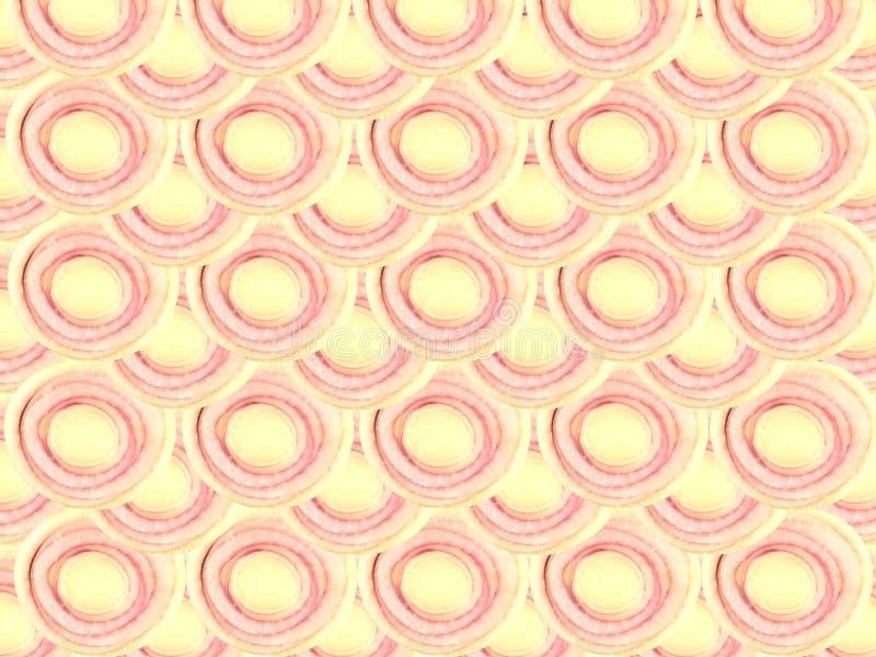 Empilhamento da forma do círculo da fatia do nardo e fundo coberto imagens de stock