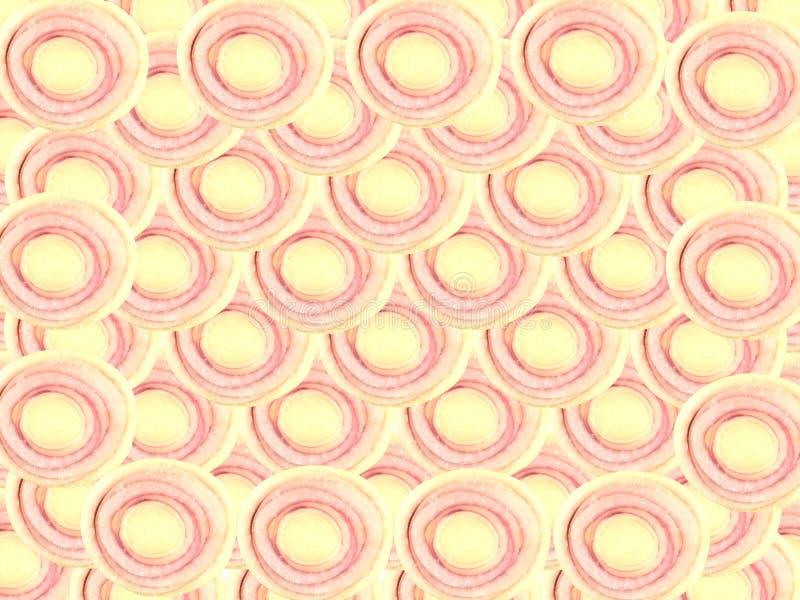 Empilhamento da forma do círculo da fatia do nardo e fundo coberto imagem de stock royalty free