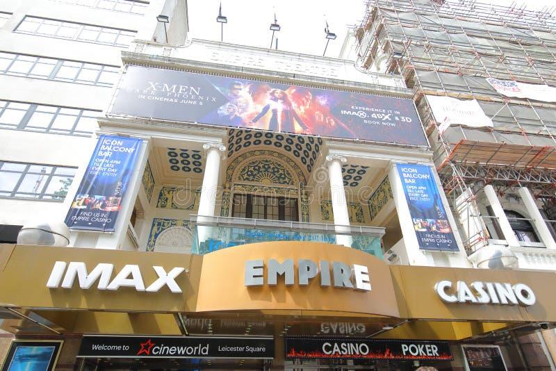 Empire casino IMAX theatre London UK. Empire casino IMAX theatre in Leicester Square London UK royalty free stock image