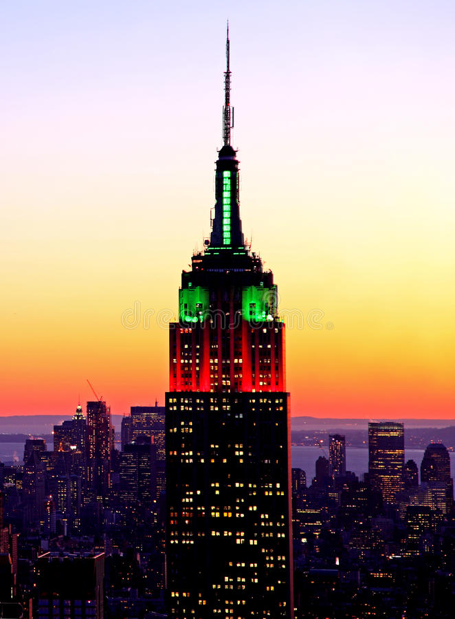 Download Empire state building editorial stock photo. Image of lights - 15541248