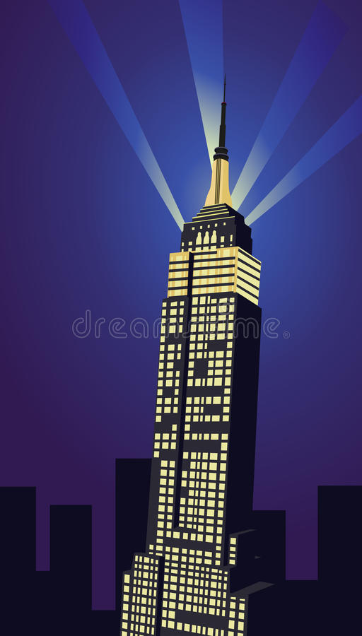 Empire State Building stock illustration