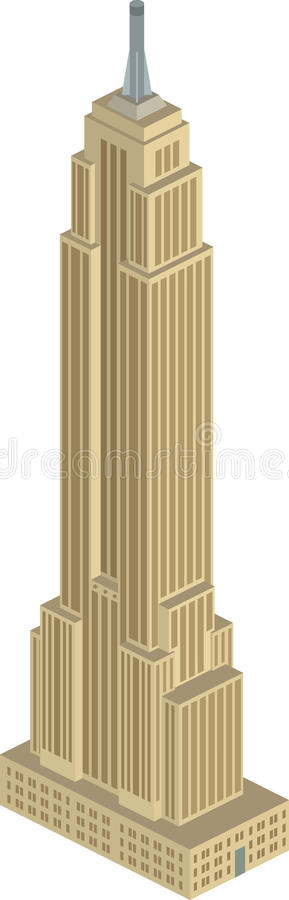 Empire State Building vector illustration
