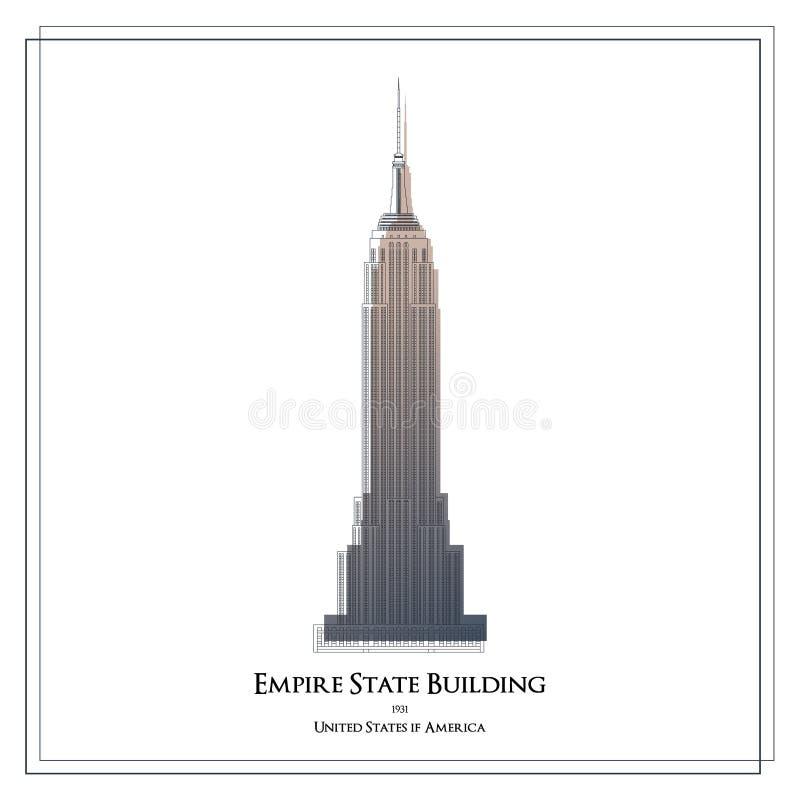 Empire State Building ilustração stock