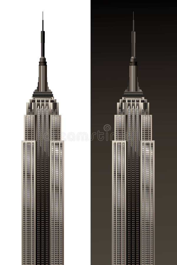 Empire State Building. Vector illustration stock illustration