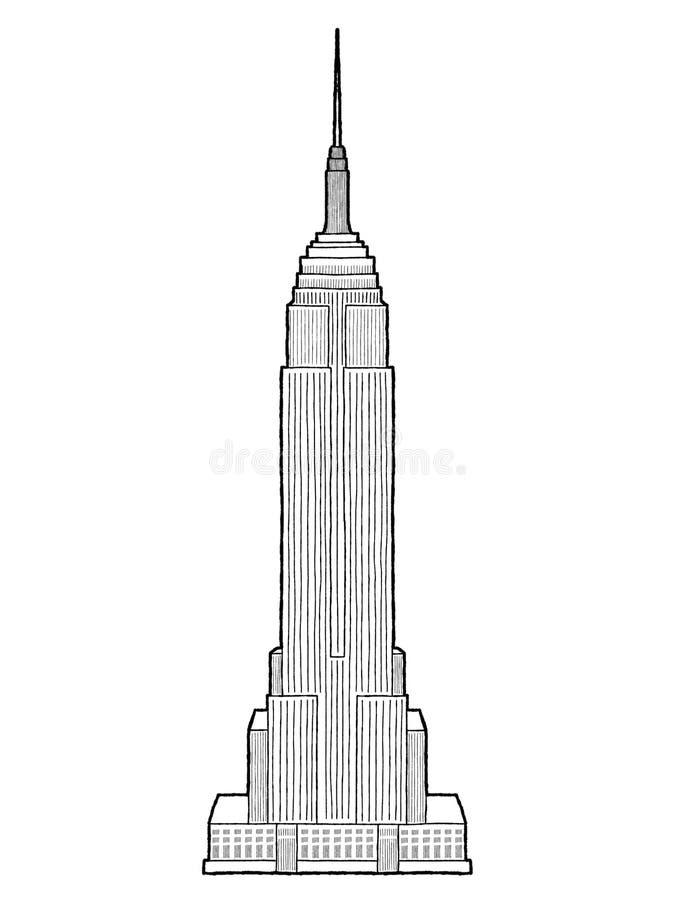 Empire State Building ilustração royalty free