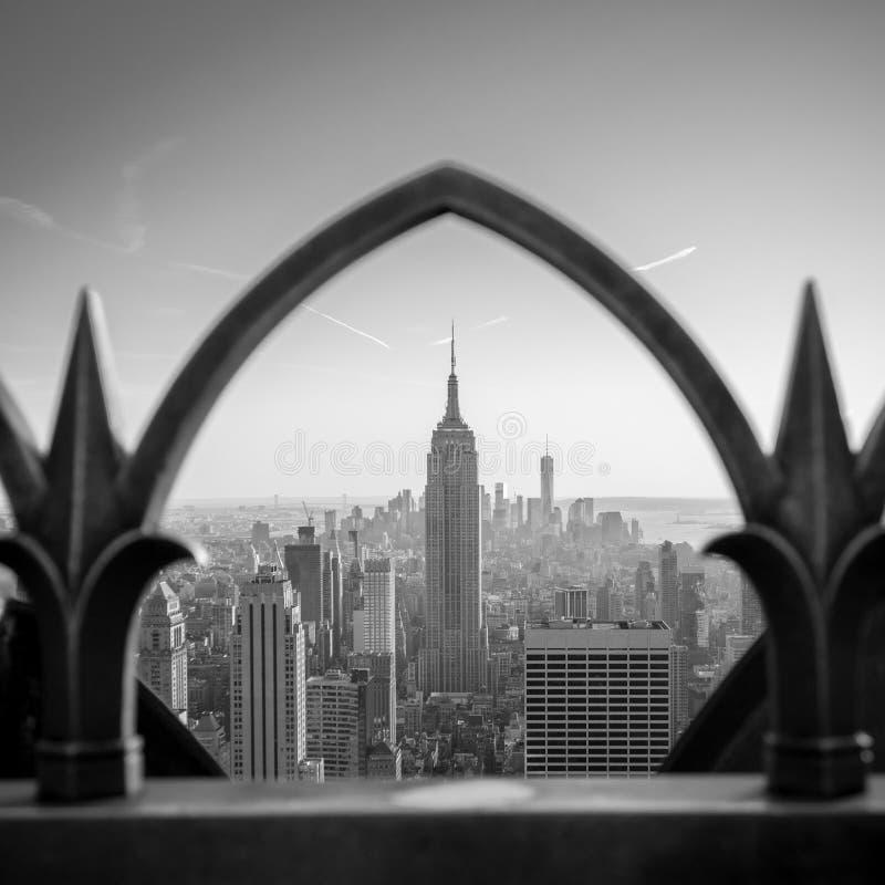 Empire State Building b/w royaltyfria foton