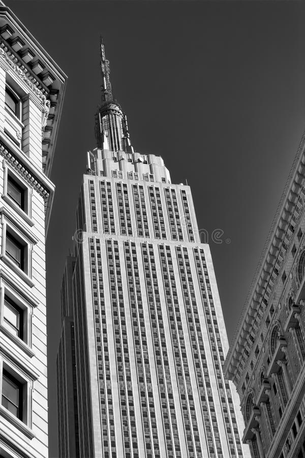 Download Empire State Building B&W editorial photography. Image of tourist - 25498937