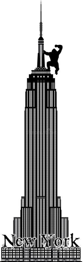 Empire State Building de New York illustration stock