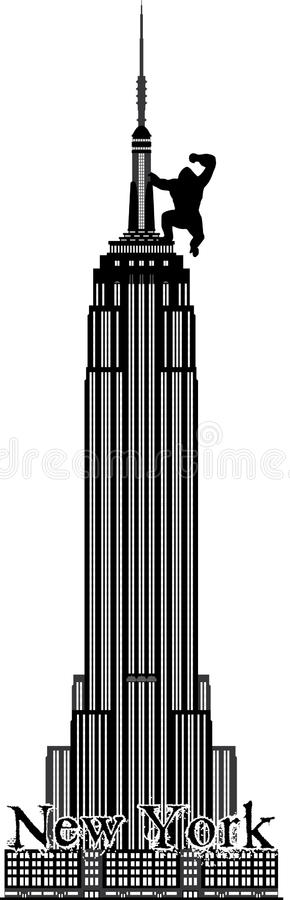 Empire State Building de Nueva York stock de ilustración