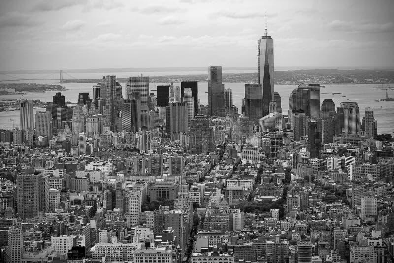 Empire State Building de paysage, New York photos libres de droits