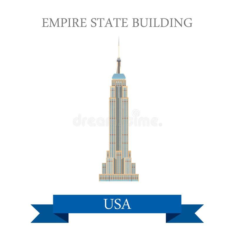 Empire State Building em New York, Estados Unidos ilustração stock
