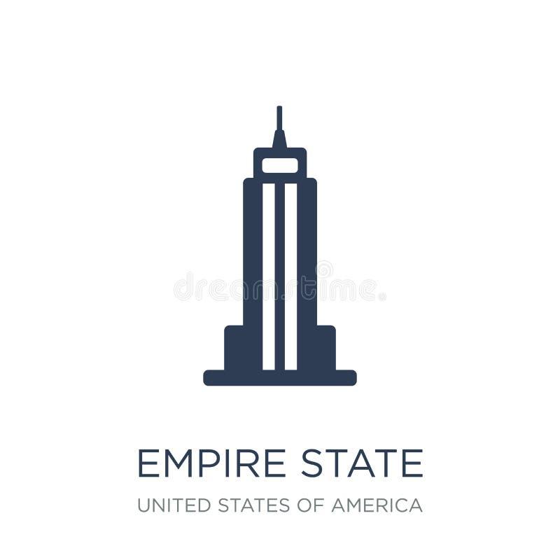 Empire State Building ikona Modny płaski wektorowy Empirowy stanu buil royalty ilustracja