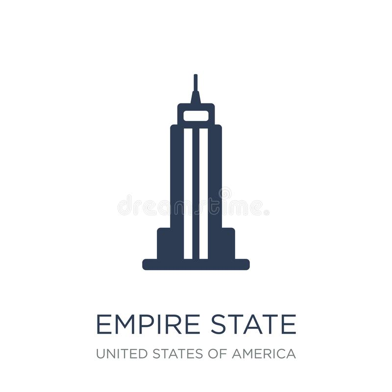 Empire State Building-Ikone Modisches flaches Vektor Reich-Zustand buil lizenzfreie abbildung