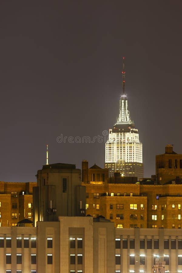 Empire State Building la nuit photo stock