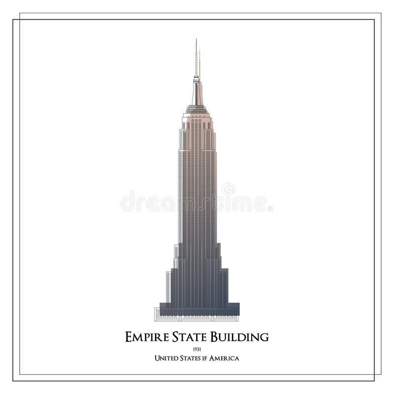 Empire State Building. stock illustration