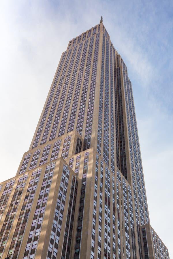 Empire State Building in Manhattan in de Stad van New York stock foto's