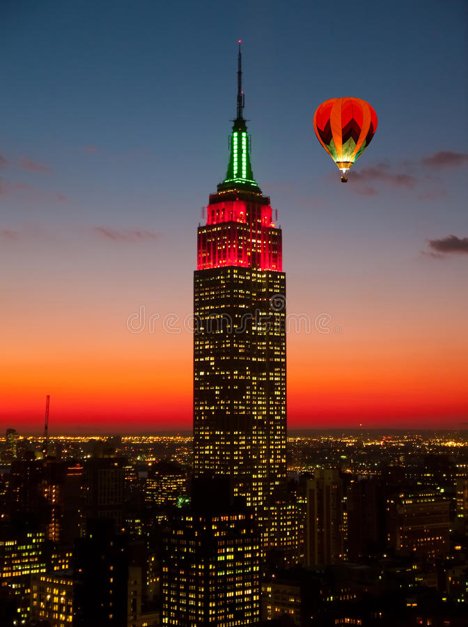 The Empire State Building and Manhattan Midtown Skyline stock photography