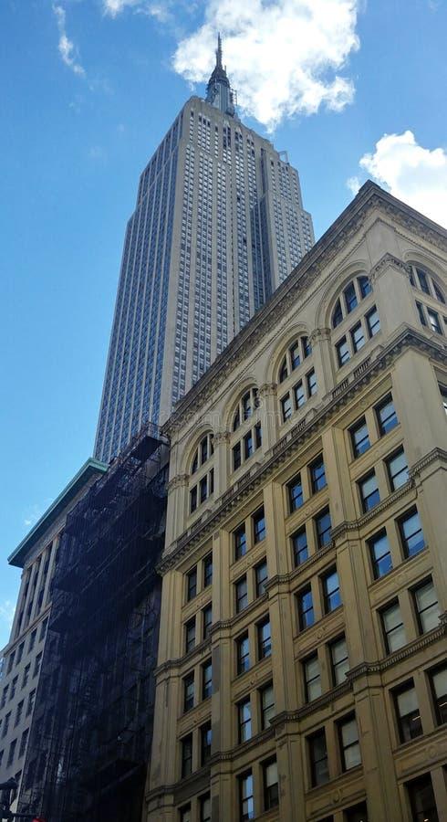 Empire State Building Manhattan, New York City fotografering för bildbyråer