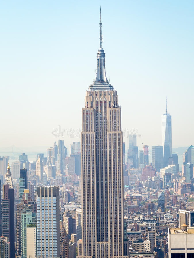 The Empire State Building and the Manhattan skyline in New York royalty free stock photos