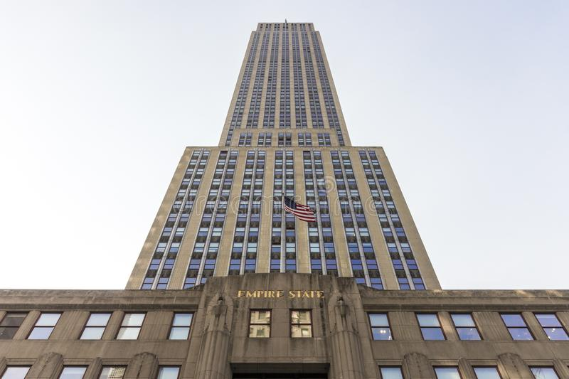 Empire State Building, New York City stockbilder
