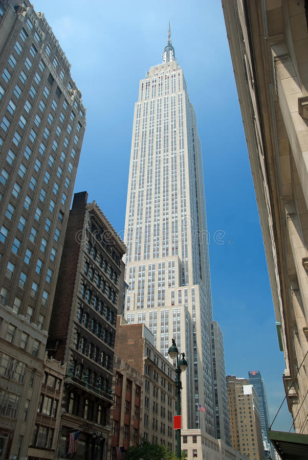 Empire State Building in New York City stockfoto