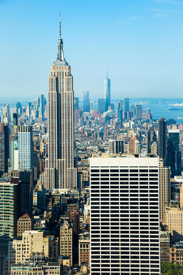 Empire state building. Of New York city royalty free stock photos