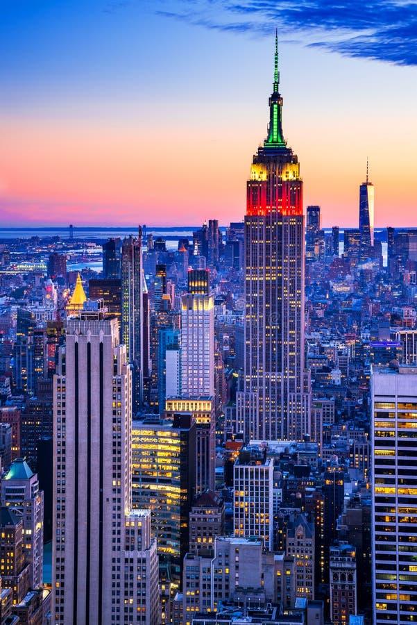 Empire State Building - New York City, EE.UU. fotos de archivo libres de regalías