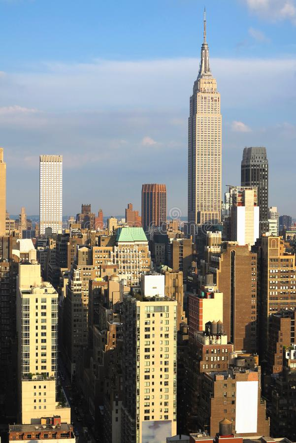 Empire State Building with New York City Manhattan skyline and skyscrapers royalty free stock photo