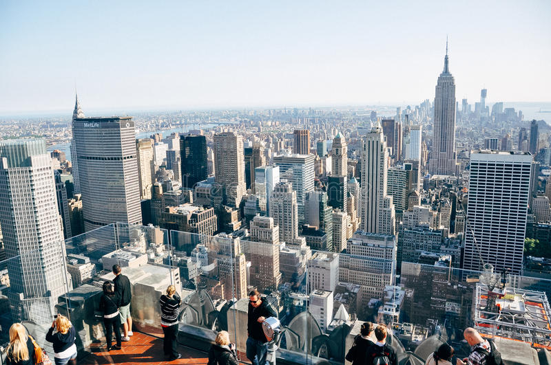 The Empire State Building in New York City skyline. stock photos