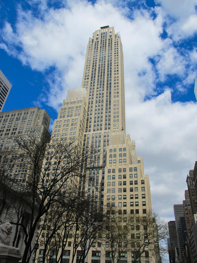 Empire State Building in New York City in Spring. Empire State Building in New York City, in Spring. Close to the Central Park royalty free stock image