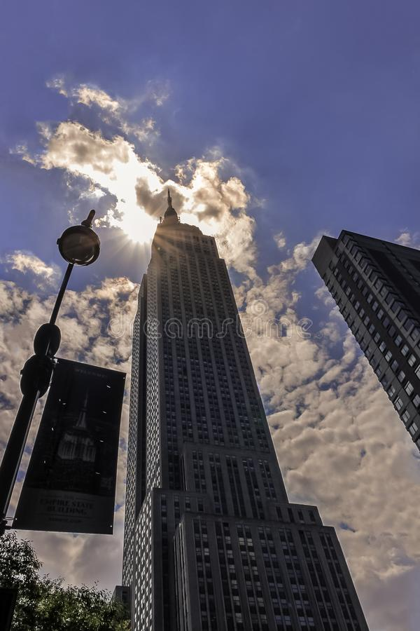 Empire State Building in New York City stock photos