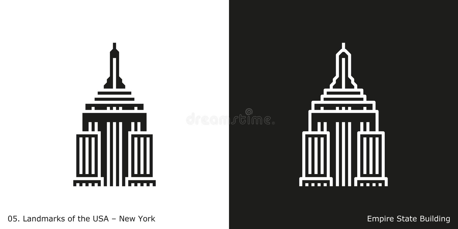 Empire State Building in New York royalty free illustration