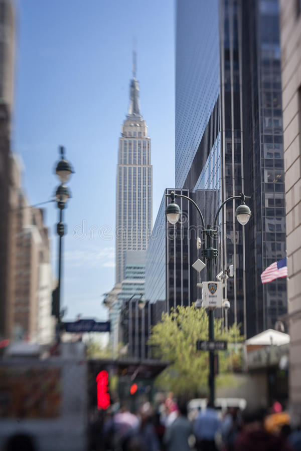 Empire State Building New York. The historical buildings in Manhattan Island and the Empire State Building, New York City, United States royalty free stock image