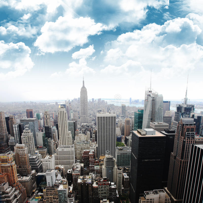 Empire State Building, New York (Manhattan, EUA) imagens de stock