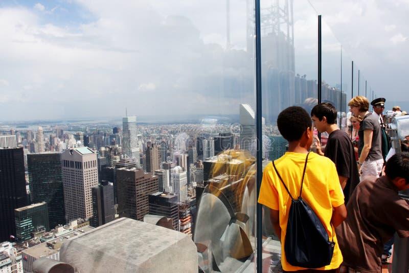 Empire State Building New York (Manhattan, USA) royaltyfri fotografi