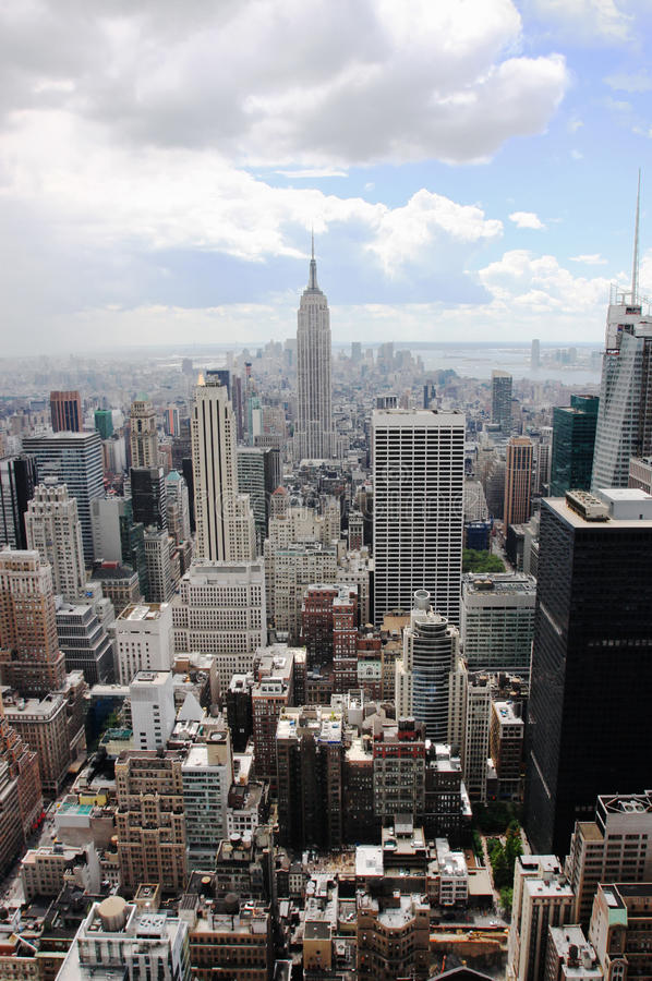 Empire State Building, New York (Manhattan, USA) royalty free stock photos