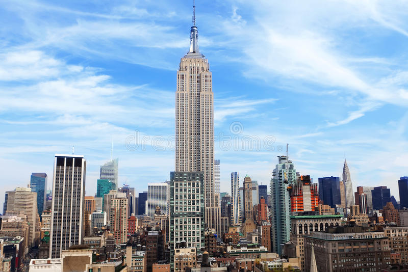 Empire State Building in New York royalty free stock photography
