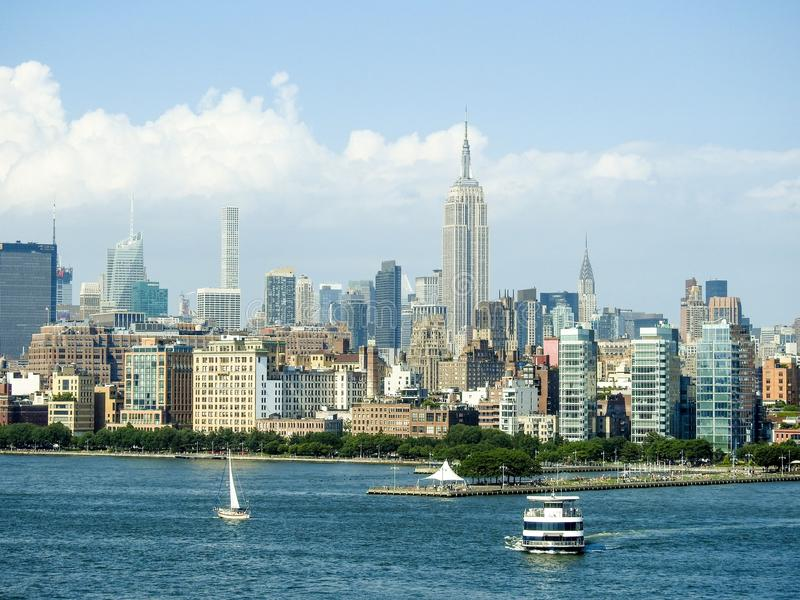 Empire State Building and New York Skyline stock photography