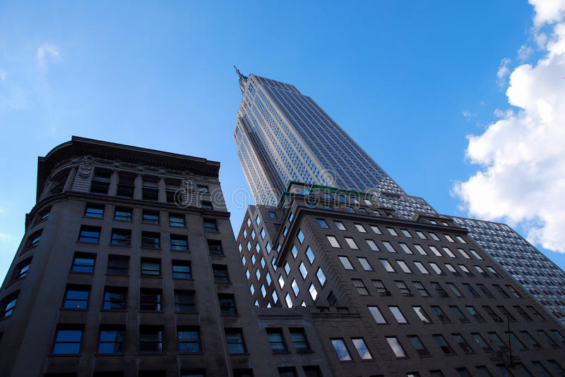 Empire State Building New York. During sunny day with blue skies stock photography