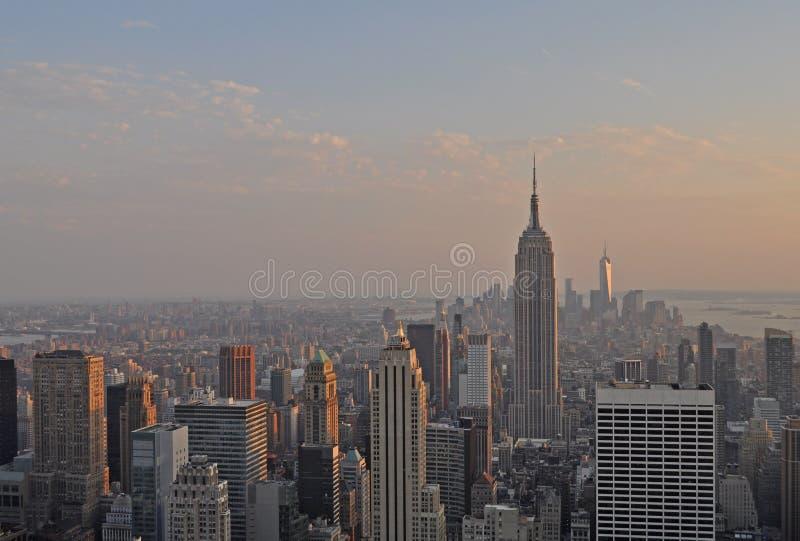 Empire State Building od Rockowego obserwacja pokładu obraz stock