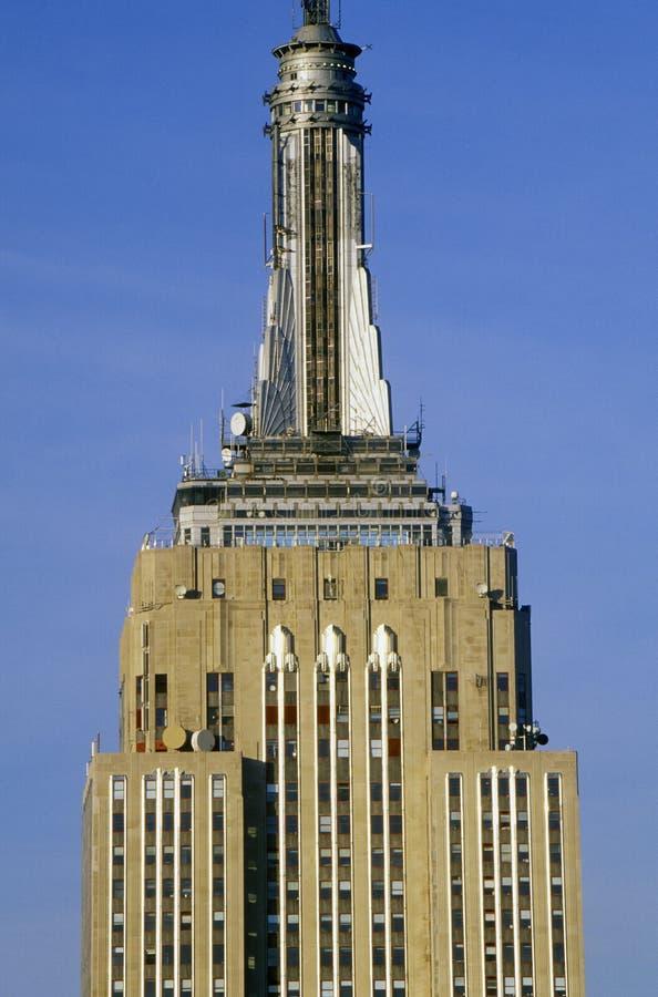 Empire State Building på soluppgång, New York City, NY arkivbild