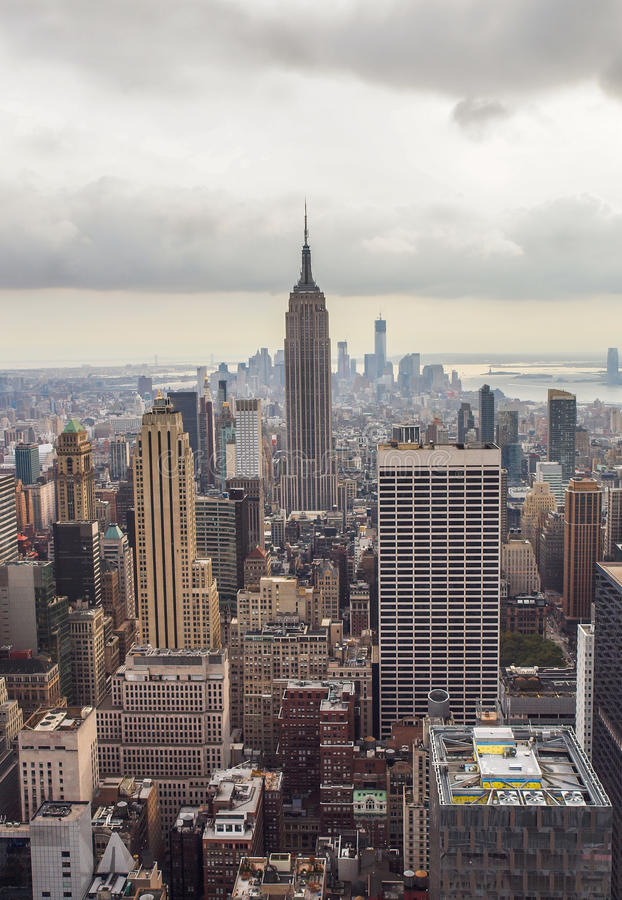 Empire State Building, skyline de New York imagem de stock royalty free