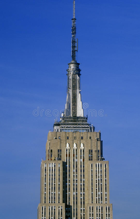 Empire State Building at sunrise, New York City, NY stock photo