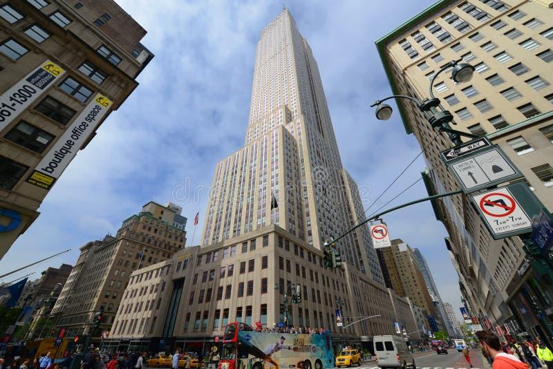 Empire State Building szeroki kąt, Manhattan obrazy royalty free