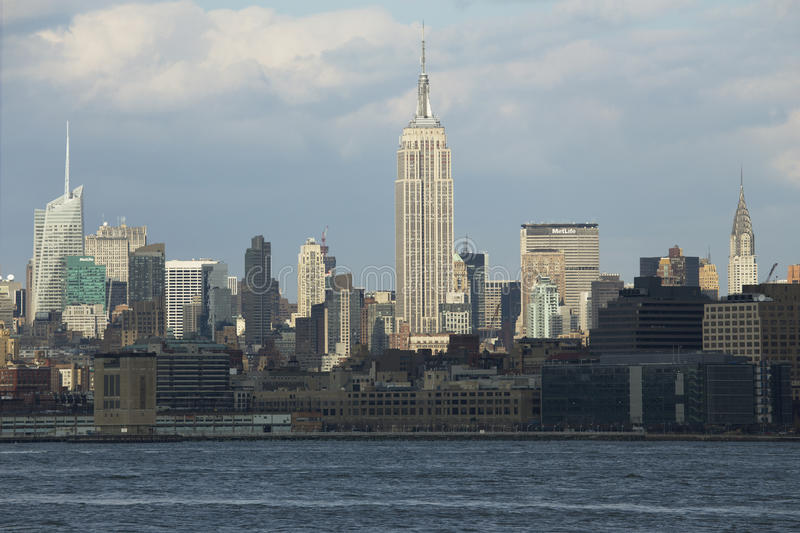 Empire State Building und NYC-Skyline, New York City, New York, USA lizenzfreie stockfotos