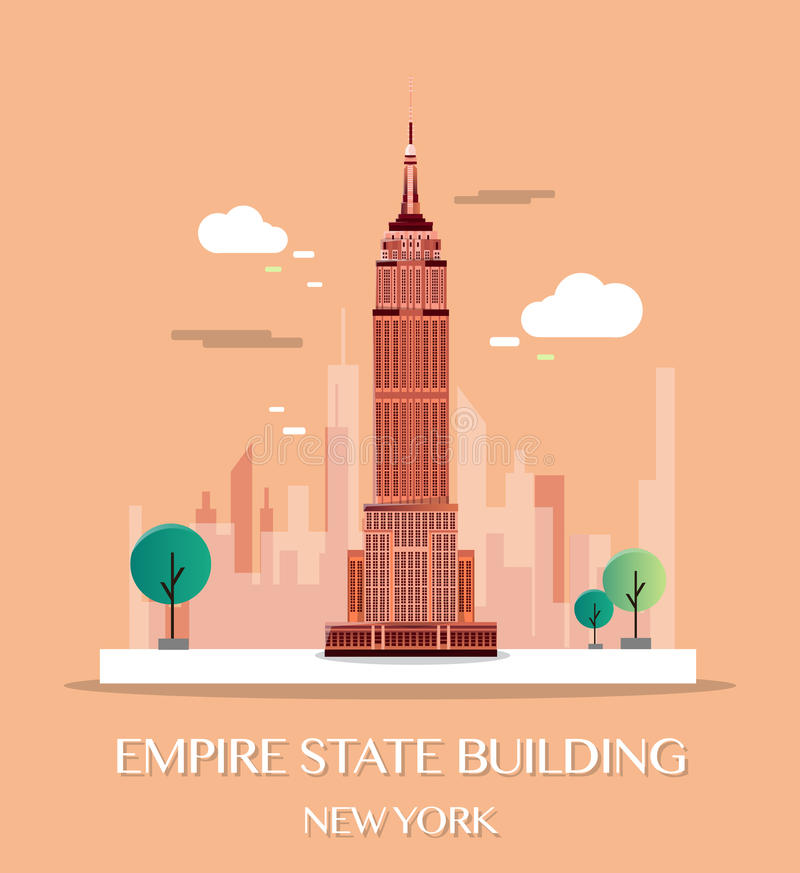 Empire State Building.Vector Illustration. royalty free illustration